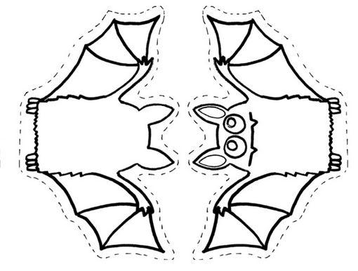 Imagenes de halloween para colorear - Murcielagos halloween para imprimir ...