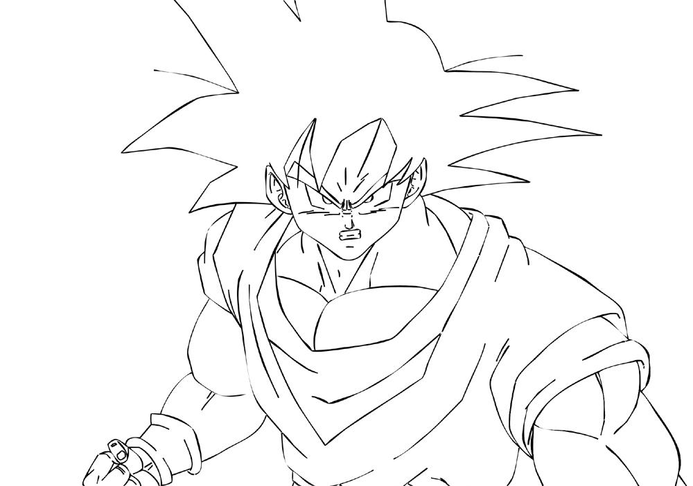 Lujo Imagenes Para Colorear De Goku Fase 4: Fotos Para Dibujar
