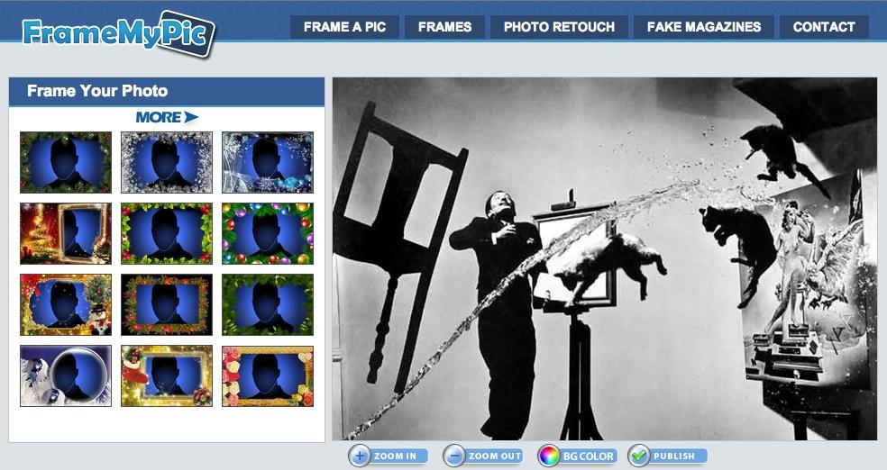 Paginas para editar fotos online for Enmarcar fotos online