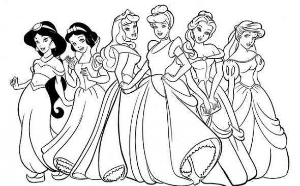 Imagenes princesas para colorear