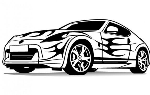 Imagenes de carros deportivos para colorear