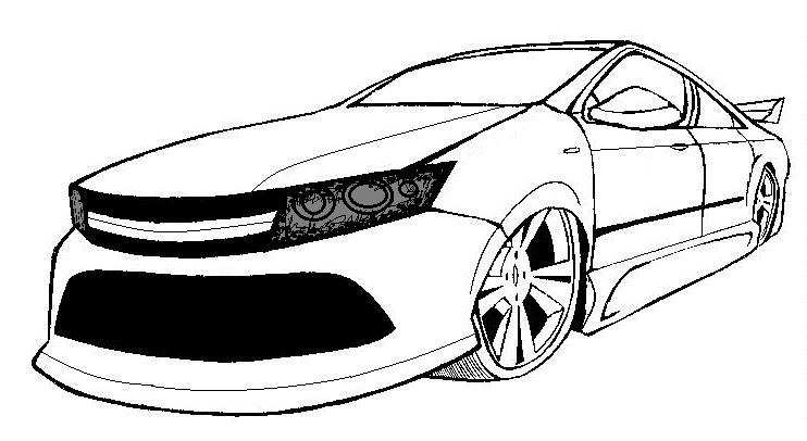 Imagenes de carros para colorear