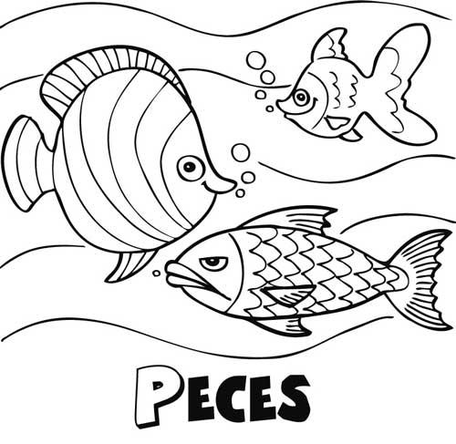 Imagenes de peces colorear