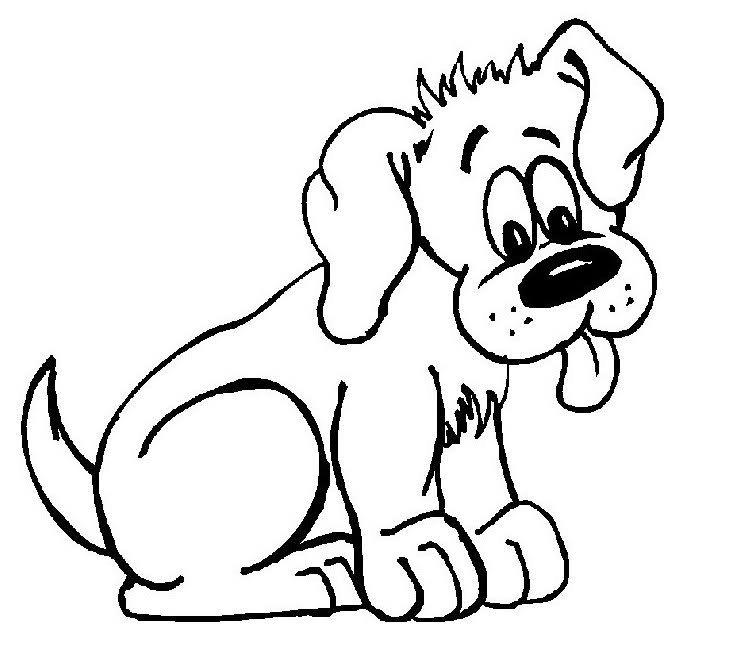 Imagenes de perros para colorear
