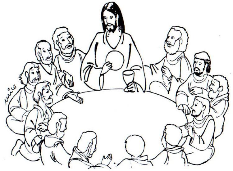 Imagenes jesus colorear