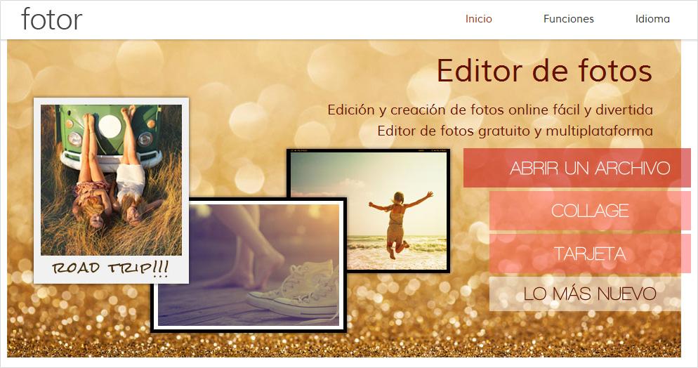 Pagina para arreglar fotos